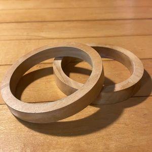 2 for $15 Light wood bangles